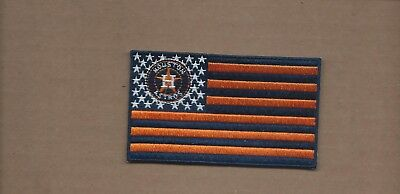 New 2 3/8 X 4 Inch Houston Astros Flag Iron On Patch Free Shipping
