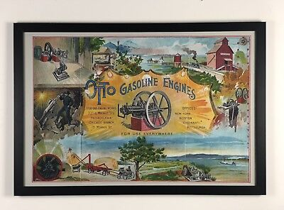 New 24x36 large print: Otto 1892 hit and miss gas engine advertising poster sign