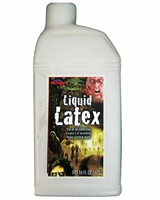 Liquid Latex 16oz 1 Pint One Size All-Natural Arts Crafts Costume Play Dress-up