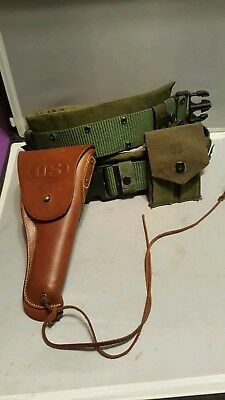 WW2 ERA US M1916 LEATHER HOLSTER FOR M1911 A1 PISTOL LEATHER belt ammo case