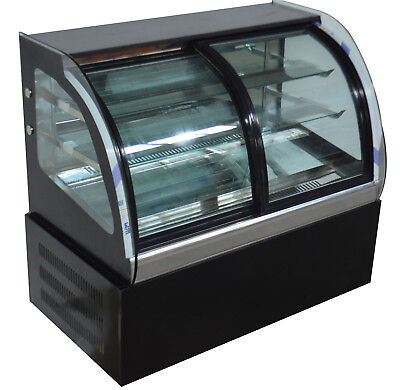 """220V Commercial Refrigerated Bakery Cake Showcase Air Display Cabinet Case 35"""""""