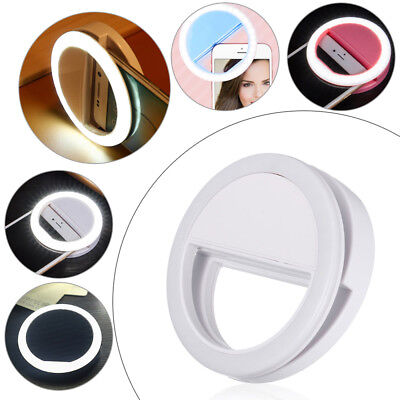 Selfie Portable LED Ring Flash Light Camera For iPhone Android Phone Photography