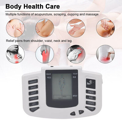 Electrical Pulse Tens Stimulator Full Body Relax Muscle Therapy Massager+4 Pads