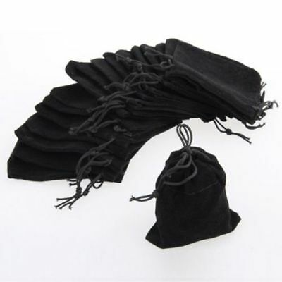 5x Black Velvet Drawstring Jewelry Storage Safety Case Gift Bags Pouches