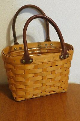 Longaberger Small Boardwalk Purse Basket with Plastic Protector