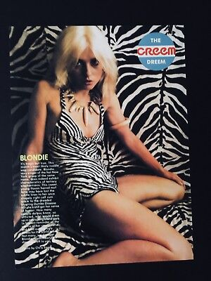 "Blondie Debbie Harry 1 Full Page 8.5X11"" Creem Dream Clipping"