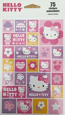 Hello kitty stickers 75 Stickers 3 Sheets Free Shipping