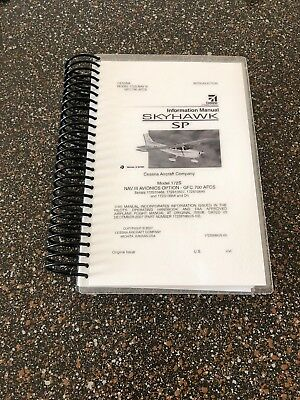Cessna 172S POH Information Manual with NAV III GFC 700 AFCS-HIGH QUALITY GLOSSY