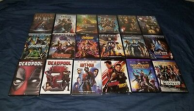 Marvel Bundle 2-DVD Pick Any (Avengers, Ant-man, Thor, Black Panther, Dead Pool)
