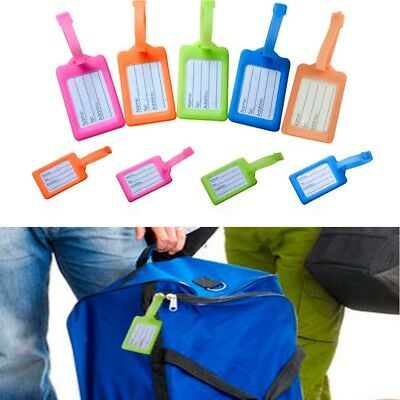 5Pcs Travel Luggage Bag Tag Address Name ID Label Plastic Suitcase Baggage Tags