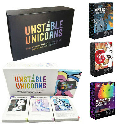 Full Packs Unstable Unicorns Card Game With All Expansion Packs New Sealed