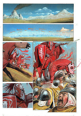 2000Ad Slaine Original Painted Comic Art Page
