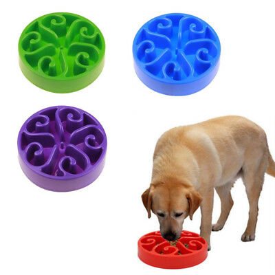 Pet Bowl Dog Cat Interactive Slow Food Feeder Healthy Gulp Feed Dish Large UD
