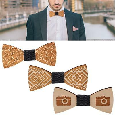 Wooden Bow Tie Accessory Wedding Party Bamboo Wood Bowtie Neck Wear for Men 2019
