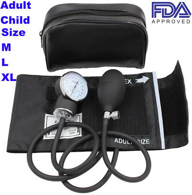 Manual Blood Pressure Monitor BP Cuff Gauge Aneroid Sphygmomanometer Machine Set