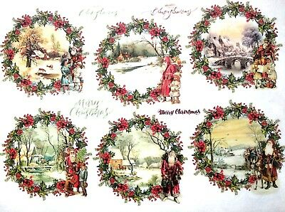 Rice Paper for Decoupage Scrapbooking Sheet Craft Christmas Baubles Motives 2