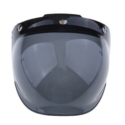 3 Snap Flip Up Bubble Visor Shield for Open Face Motorcycle Helmet
