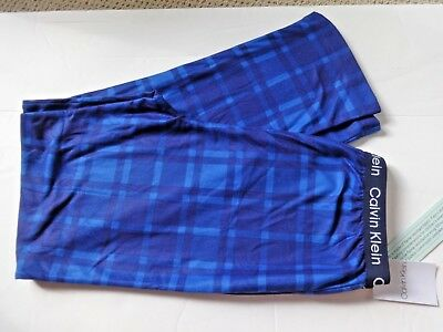 Boys Calvin Klein Lounge Pajama Pants Size 16/18 Blue Plaid