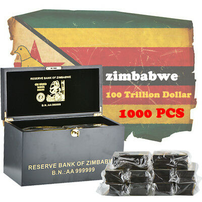 WR Zimbabwe 100 Trillion 1000PCS Color Banknotes Collection & Gifts Box Set