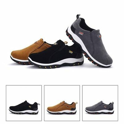 Mens Safety work Shoes slip on Steel Toe antiskid Casual Climbing hiking Boots U