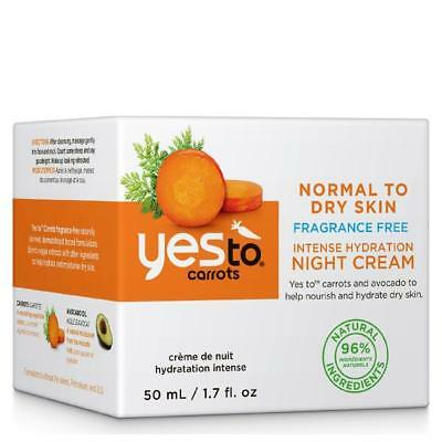 Yes To Carrots Fragrance-Free Intense Hydration Night Cream Hydrating 🔥48HR