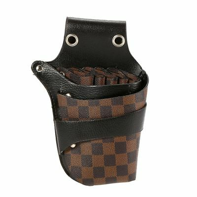 Hairdressing Bag PU Leather Hair Scissor Holster Pouch Holder For Hair Stylist