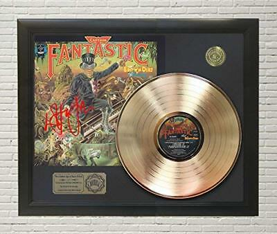 Elton John - Captain Fantastic Framed Gold Lp Signature Display M4