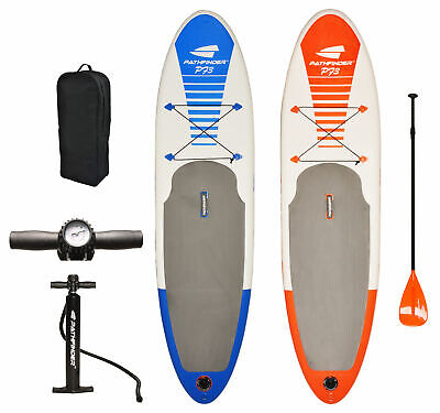 PathFinder Inflatable SUP Stand Up Paddle Board, Paddle, Pump & Carry Bag