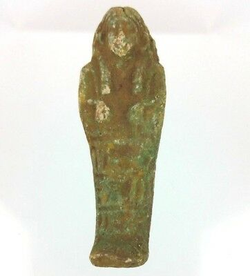 Egyptian Ushabti Mummy Helper Faience Figurine BC Antique