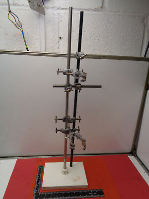 "Vintage laboratory 28.25"" retort stand with accessories LOT9748VT"
