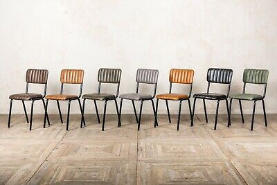 Strange Leather Dining Chairs Real Leather Restaurant Cafe Stacking Machost Co Dining Chair Design Ideas Machostcouk