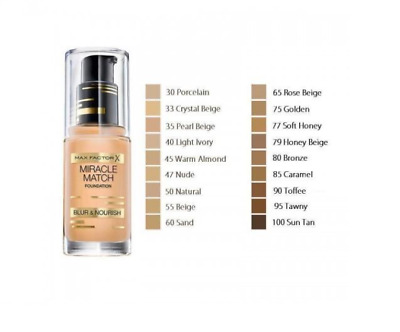 Max Factor Miracle Match Foundation Blur & Nourish * Choose * New