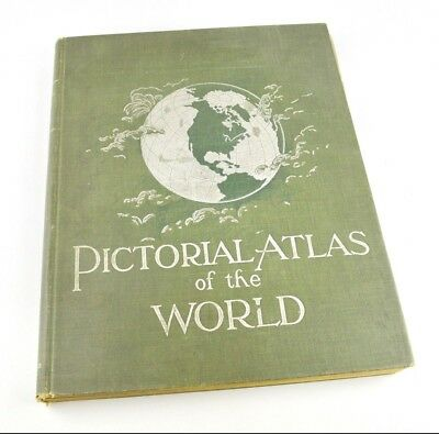 1897 Pictoral Atlas of the World Rand McNally Antique Colored Maps Excellent