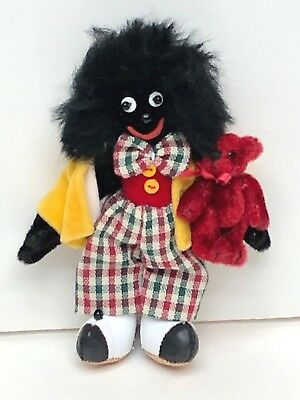 "4"" AA African American Black folklore Black Face doll"