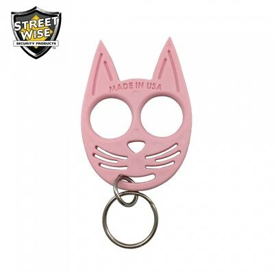SET OF 3 My Kitty Self-Defense Cat Spike Strong ABS Plastic Keychain - Pink