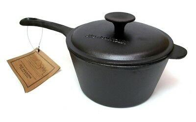Old Mountain Cast Iron 3 qt Sauce Pan Pot with Lid