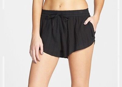 Volcom Stone New Addiction Shorts Womens Black Floral Lightweight Casual New NWT