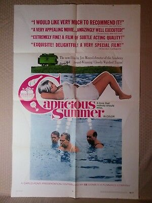1968 Vintage Capricious Summer Movie Poster 27x41 Large One Sheet Original