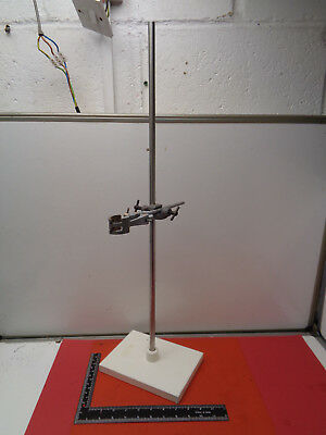 """Vintage laboratory 28.25"""" retort stand with boss and clamp LOTSRH8CC"""