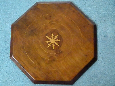 Antique Inlaid Wood Top of Needlework Chest Vintage - convert to a Table Refurb?