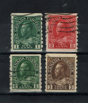 Canada  Four  Admiral Coils   Average Used