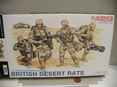 Dragon 1/35 Scale British Desert Rats 3013 Used Opened Complete