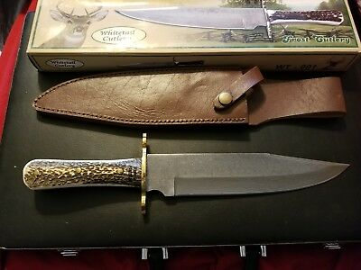 """Whitetail Cutlery 14"""" Genuine Stag Damascus Blade Bowie knife wt-001"""