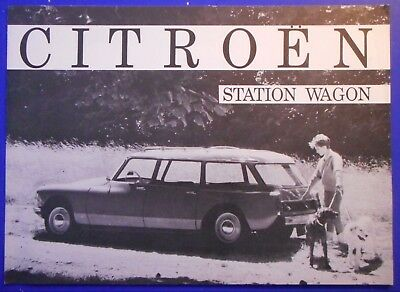 Citroen Station Wagon  Sales Brochure Advertising