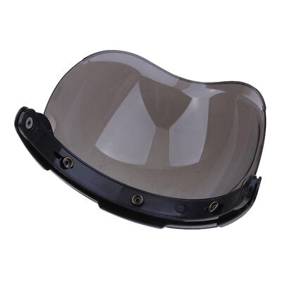 3 Snap Flip Up Bubble Visor Shield for Open Face Motorcycle Helmet Color#1
