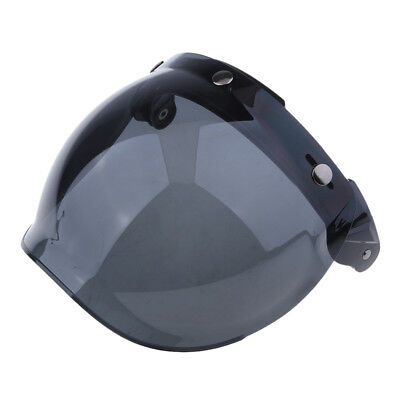 3 Snap Flip Up Bubble Visor Shield for Open Face Motorcycle Helmet Color#3
