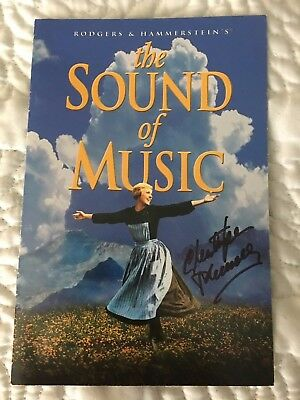sound of music 5x7 booklet dvd original authentic signed by