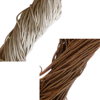 2 Pack 10m Waxed Cotton Beading Cord Thread Line 2mm Jewelry Making String