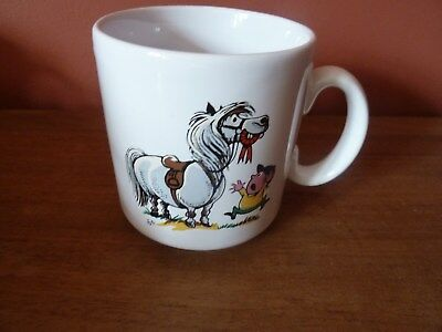 Vintage Norman Thelwell Pony Mug by Grays Pottery