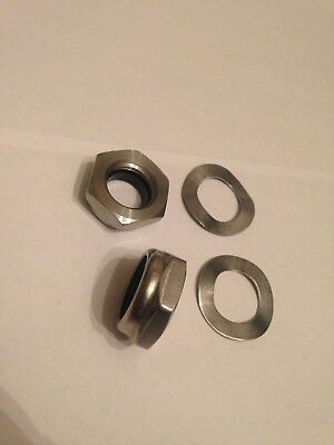 Lambretta Stainless Nyloc Rear Shock Half Nuts R1 Bgm Pro